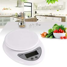Accurate Digital Household Kitchen scale 5000g/1g 5kg Food Diet Postal balance Measuring weight LED electronic scale