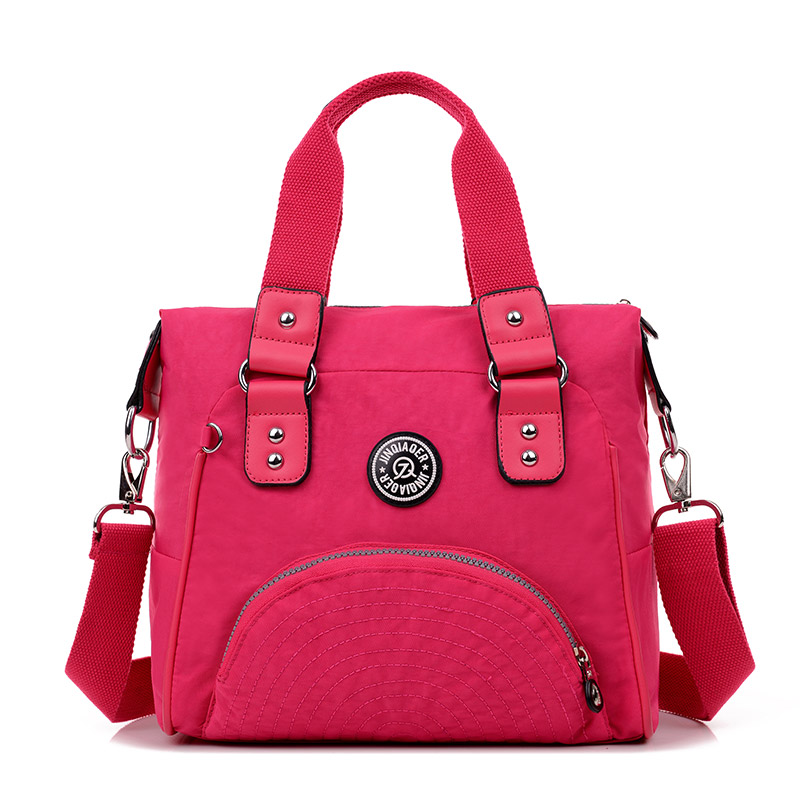 12 Colors! Fashion Women Waterproof Nylon Handbags for Ladies Good Quality Casual Shoulder Crossbody Tote Bags with Top Handles<br>