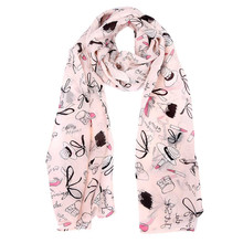 2017 KLV luxury brand Fahsion egelant Women Chiffon Printing Wrap Lady Scarf Shawl Long Soft Scarves female shawls Free Shipping