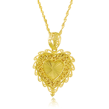ADNARA Famous Luxury Jewelry LOVE Heart Necklace Pendants Gold Color Chain Necklace Christmas Gifts For Women P135(China)
