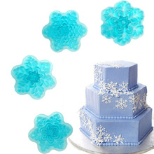 A161 Flower  snow flake Shape Fondant Cake Sugarcraft Equipment Embosser Cutter Icing Decorating DIY Cake Mold Tool