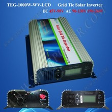 1000W on Grid Tie Power Inverter DC 45-90V to AC 190V~260V, mppt function solar tie grid inverter