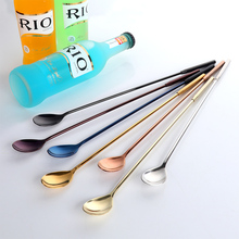 7 Color 2pcs/Set Stainless Steel Cocktail Bar Spoons Gold With Long Handle 30.6cm Bartender Cocktail Spoon Stirrer Drinking Tool(China)