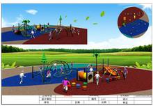 Exported to Chile High Endurance Outdoor Gym Training Playground Set KX03