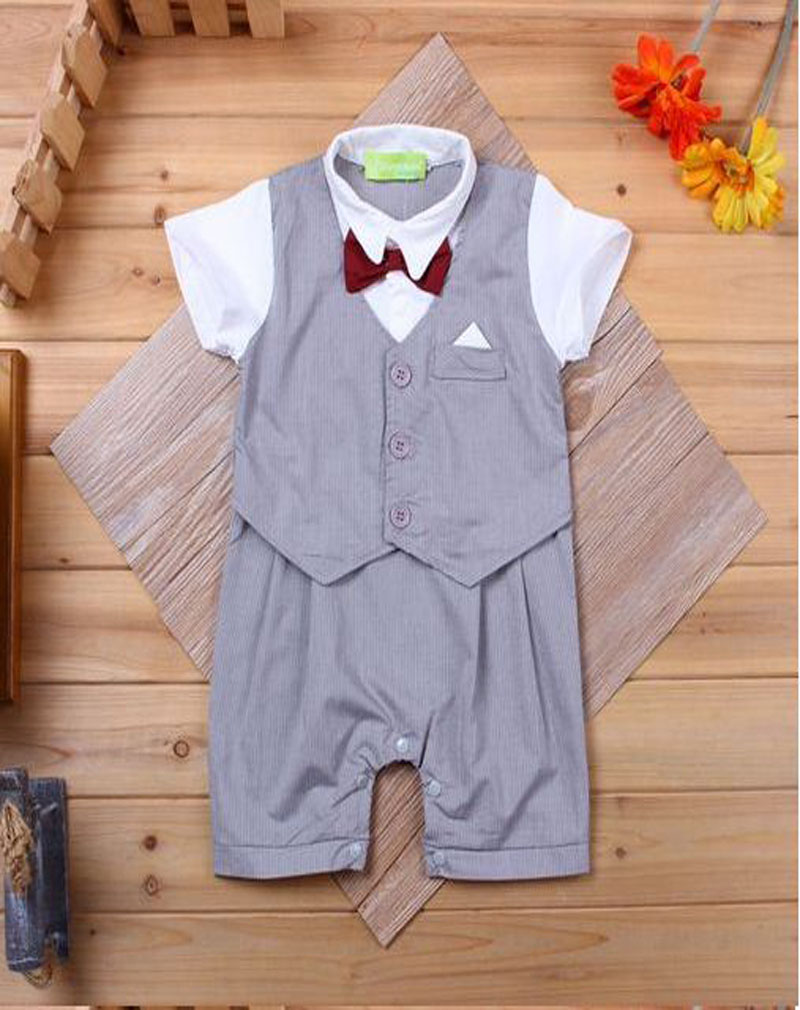 2017 Infantil baby clothes cotton boy one piece Romper Newborn bebe gentleman junpsuit Body suit white recem nascido DY028B<br><br>Aliexpress