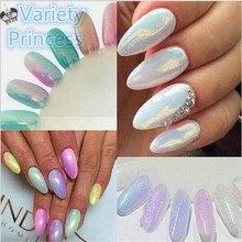 10g/Box 5 Colors Mirror Mermaid Glitter Powder For Nails Shinning Dust Nail Art DIY Chrome Pigment Nail Decoration Tools