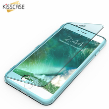 KISSCASE For iPhone 7 7 Plus Case Newest Candy Color Soft TPU Ultra Flip Case For Apple iPhone 6 6S Plus Clear Transparent Cover(China)