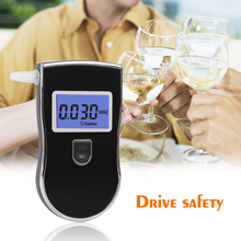 Send one bag 2pcs/lot Patent Professional Digital Breath Alcohol Tester with 3digital LCD display Blue Backlight 5pcsMouthpieces