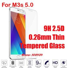 Ultra Thin New 9H 2.5D 0.26mm Phone Accesories Accessories Screen Tempered Tempere Trempe Glass Protector For Meizu M3s 5.0