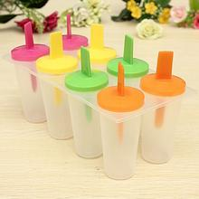 8Pcs/Set  DIY Ice Lolly Cream Maker Form Popsicle Ice Cream Pop Molds Yogurt Ice Box Frozen Treats Freezer DIY Ice Cream Tools