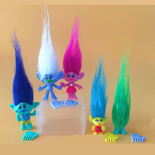 5Pcs/Set new Movie Trolls Vinyl dolls Poppie Branche Action Figures Toys for children (free to Russia)