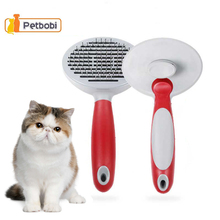 Cat Brush Pet Grooming Supplies Combs for Cat Plastic Steel Wire Brush Kat Pet Brush For Dog Cat Brushes And Quick Clean Comb