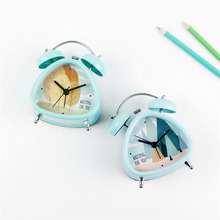 Metal Alarm Clock Unique Fresh Sweet Korean Japanese Pastoral Style Cute Mini Silent Artistic Needle Alarm Clock for Home Decor(China)