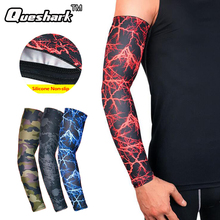 1Pcs Running Cycling Arm Warmers UV Protection Basketball Volleyball Golf Sports Arm Sleeves Bicycle Bike Arm Covers Elbow Pads(China)