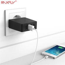 RAXFLY 5V/7.2A 4 Ports USB Desktop Wall Charger Micro USB Charger Power Strip Adapter Socket For US/UK/ EU Plug Quick Charger