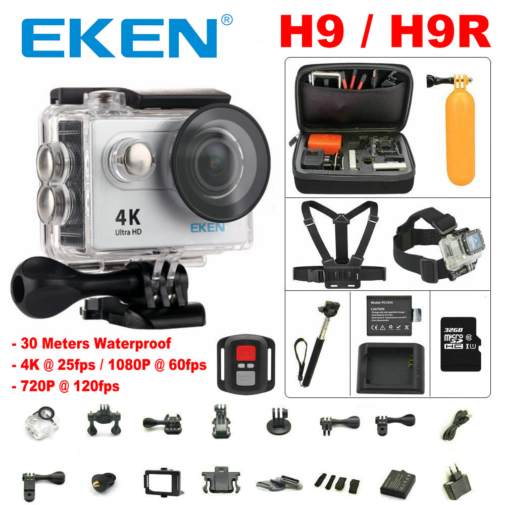 Action camera Original eken H9 / H9R remote Ultra HD 4K WiFi 1080P / 60fps 2.0 LCD DV Sport Camera go waterproof pro sj<br><br>Aliexpress