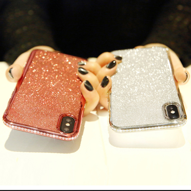 Rhinestone Glitter Case for Apple iphone XS MAX XR 10 X 7 8 Plus 6 S 6s Soft Silicone TPU Diamond Sexy Girl Protector Back Cover (1)