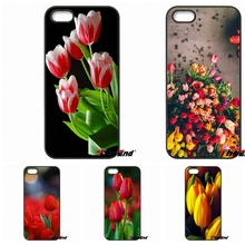 Tulip Flower Relief Painting Mobile Phone Case For iPhone 4 4S 5 5C SE 6 6S 7 Plus Samung Galaxy J5 J3 J7 A5 A3 S7 S6 Edge