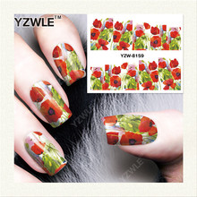 YZWLE 1 Sheet DIY Decals Nails Art Water Transfer Printing Stickers Accessories For Manicure Salon YZW-8159