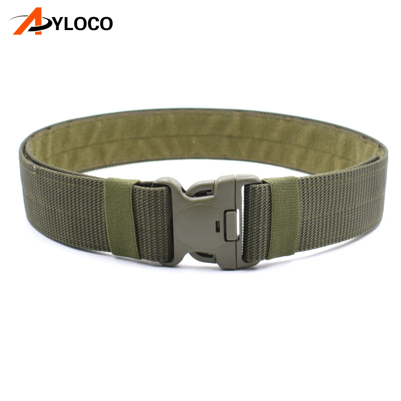 Airsoft sports Nylon Tactical Military Belt Men Army Military Tactical Belts Men Adjustable Survival Tactical Belt Buckle
