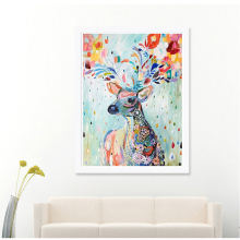 12*12 Inch Handmade DIY Diamond Painting Embroidery Cross Stitch Kits Crystal Painting Room Colour Deer Small Animal Pattern(China)