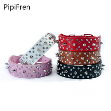 PipiFren Dogs Collar Spiked Rivet For Puppy Small Pet Personalized Accessories Cats Chihuahua Supplies Necklace collare cane