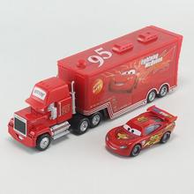 2pcs Cars Diecast No.95 Mack Racer's Truck lightings Metal Toy Car For Children 1:55 Loose Brand New In Stock Lightning McQueen(China)