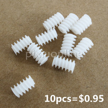 10pcs/lot J256 White Right Hand Plastic 6*10 (2A) Worm Turbine 0.5 Module Reduction Gears DIY Model Parts Free Shipping Russia