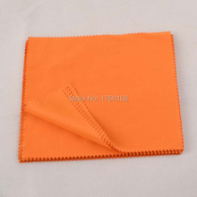 100PCS 15*18cm Orange Lens Cloth Microfiber Glasses 200gsm Cleaning Cloth Black sun glasses Eyewear Cloth custom LOGO cloth(China)