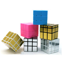 Gold Mirror Cube Silver Cubo Magico Fidget Educational Toys Children Twist Square Pink Mini Magic Cube Mirror Blue 502433