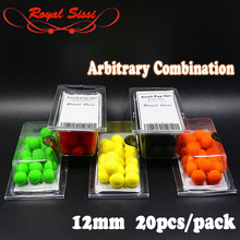New sale 5 box/sets smell Pop ups Carp Fishing bait Boilies 20pcs/box 12mm Floating ball beads feeder Artificial Carp baits lure(China)