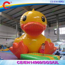 free shipping 3m/4m/5m/6m giant inflatable yellow promotion duck,giant sitting inflatable duck,advertising Inflatable toy duck(China)