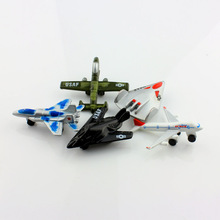 5Pcs set Speedy Miniz kids Aircraft models metal diecast airplane war miniatures fighter toys air force collectible for baby boy
