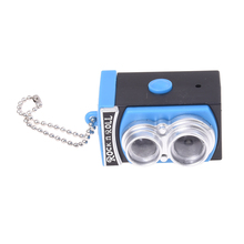 Cute Mini Double Twin Lens Reflex TLR Camera Style LED Flash Light Torch Shutter Sound Keychain(China)