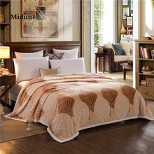 3D Bohemia Ferret cashmere blanket winter Thicken adult warm blankets brand fleece soft throw on Sofa/Bed/Plane Travel Plaids(China)