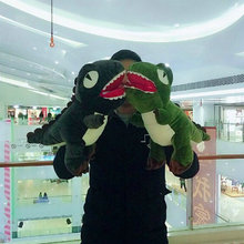 48cm Cute winter hand warm Dinosaur plush toys dinosaur cloth doll stuffed plush pillow cushion 2017 New style gift baby