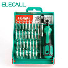 ELECALL 33 In 1 Multifunction Repairing Tools Iphone PC Watch Tablet Screwdriver Set Interchangeable Torx Tweezer Extension(China)