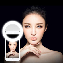 Mobile phone Selfie ring light led video light Night Using selfie light for Video for iPhone 7/6/6s/5 Samsung Smartphone