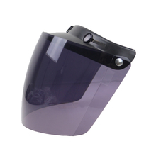 DIY 3 pin buckle helmet competiable windshield 3/4 open face helmet glass 5 color available CE approved helmet shield(China)