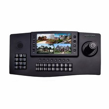 "NEW 7"" TFT LCD 1024*600 4CH video display HDMI output Onvif 4D Joystick IP PTZ keyboard controller IP network Security SKB-N402(China)"
