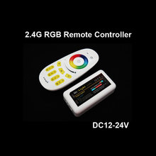 Wholesale 2.4G DC12V 24V 10A 4-Zone LED Wireless RF RGB Remote Controller for Strip(China)