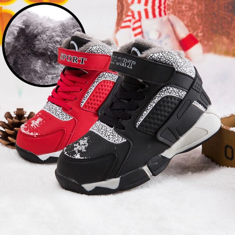 Big Size EUR26-40 Winter boys Snow Boots Fashion Winter Boys Shoes Spring Children Boots Mid-Calf Platform Boots 2018 Boys Shoes<br>
