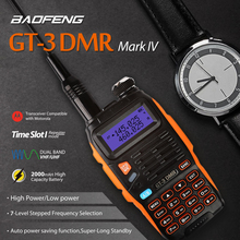 Baofeng GT-3DMR Mark IV Dual Band VHF/UHF Walkie Talkie Two Way Radio Ham Transceiver with DMR Time Slot 1 Repeater(China)