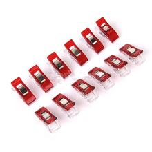 50pcs/lot Red White Wonder Clip Plastic Sewing Knitting Clips Clamps For DIY Craft Crochet Accessories