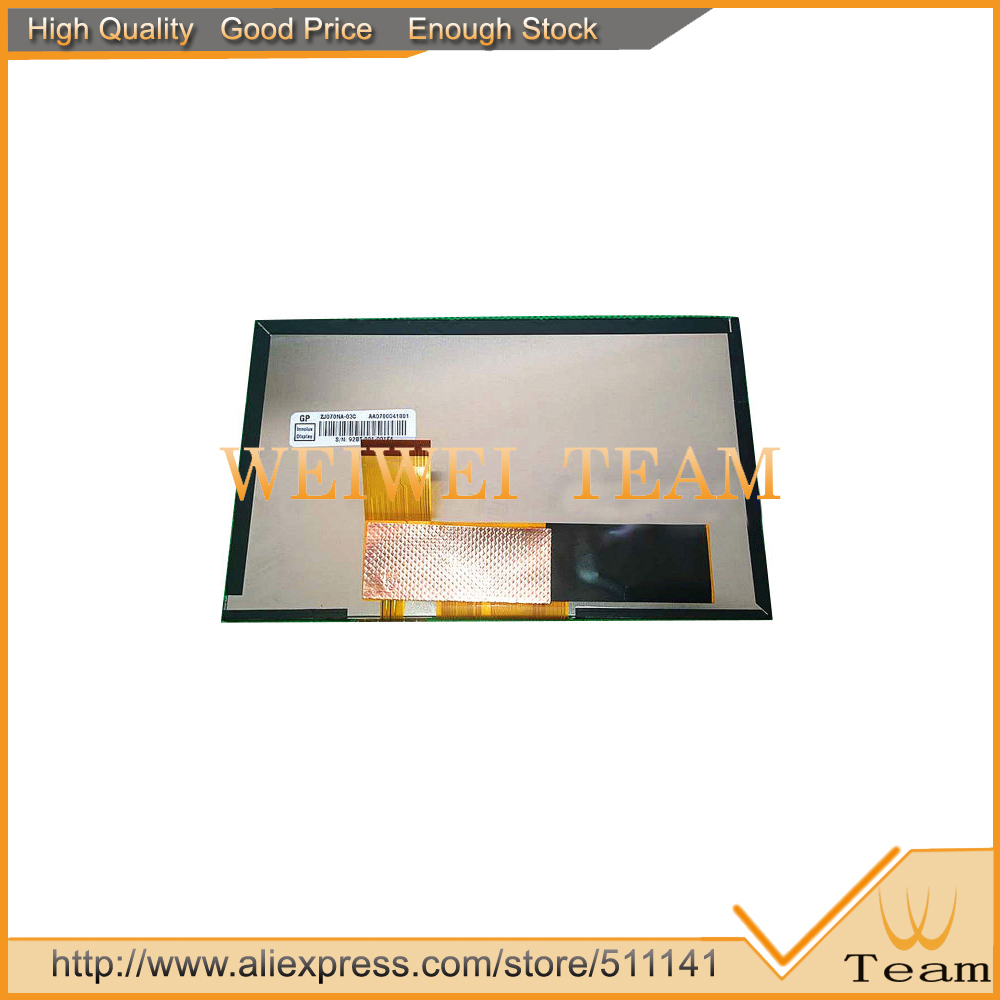 7.0 inch TFT LCD Screen For ZJ070NA-03C GPS LCD Display Screen With Panel Replacement<br>