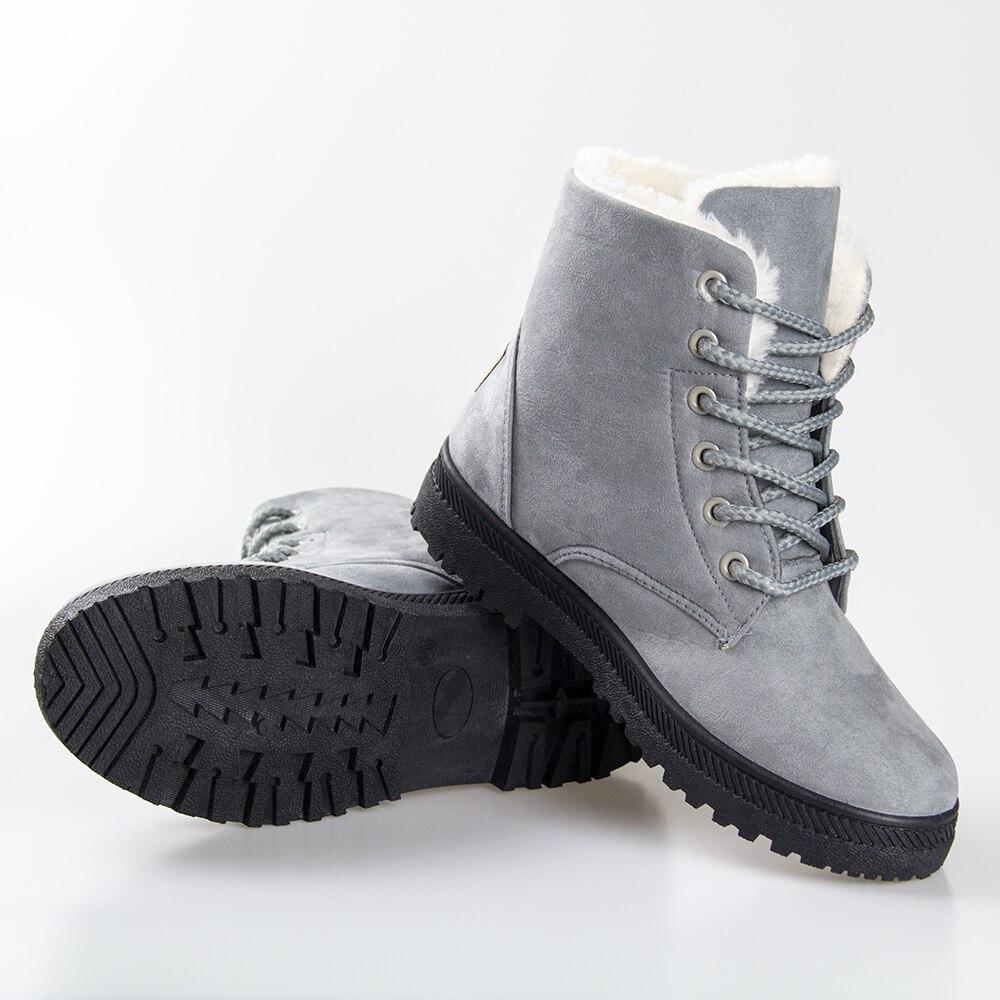 Fashion fur Snow Winter Boots Women Boots heels 2016 Women Ankle Boots Winter Shoes Warm Snow<br><br>Aliexpress