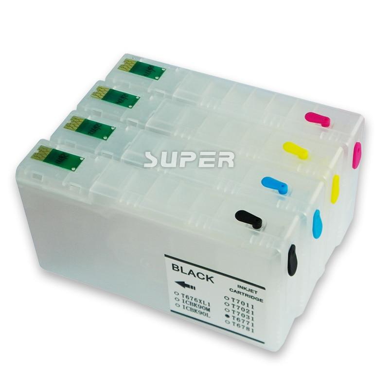 Recycling printer ink cartridges for Epson WF-5620DWF WF-5690DWF WF-5110DW WF-5190DW with ARC chips<br>