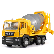Free shipping 1:32 large cement mixer model alloy concrete truck there are gift packaging For children's toy car Gifts(China)