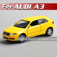 1:36 Scale Alloy Diecast Car Model For Audi A3 Sportback Collection Model Pull Back Toys Car - Yellow(China)