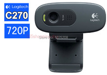 100% Logitech C270 HD Vid 720P Webcam With MIC Micphone Video Calling For PC LAPTOP